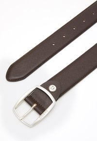 Guess - BELT ROUNDED SQUARE BUCKLE - Belt - dark brown - 1