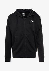 M NSW FZ FT - Zip-up sweatshirt - black/white