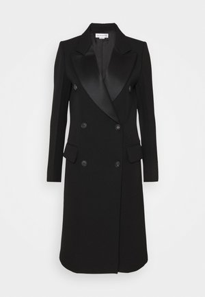 DOUBLE BREASTED TUXEDO COAT - Abrigo - black