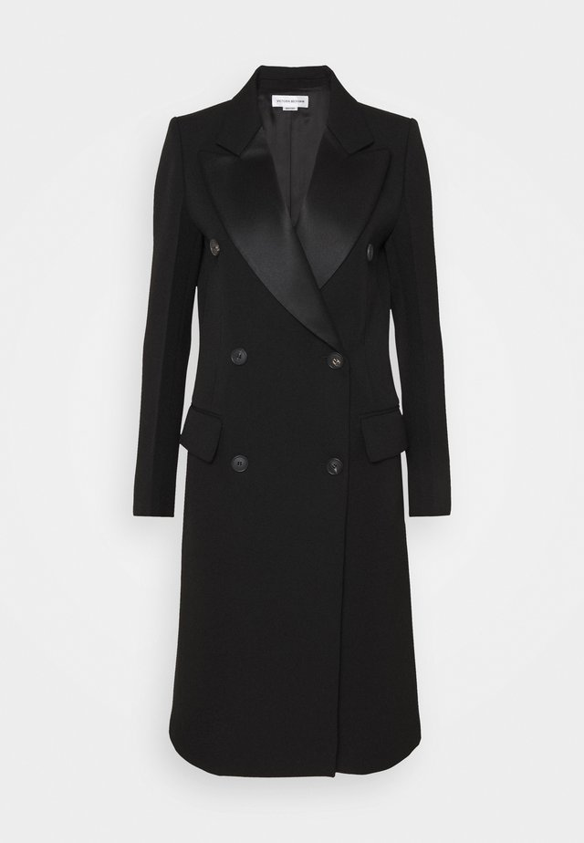 DOUBLE BREASTED TUXEDO COAT - Manteau classique - black