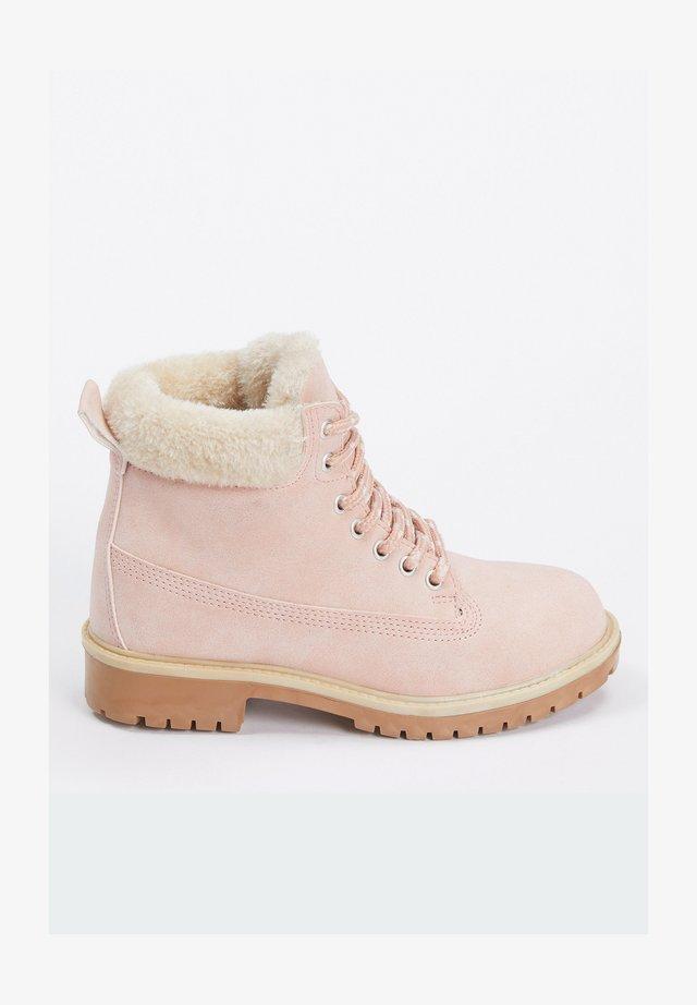 Bottines à lacets - pink