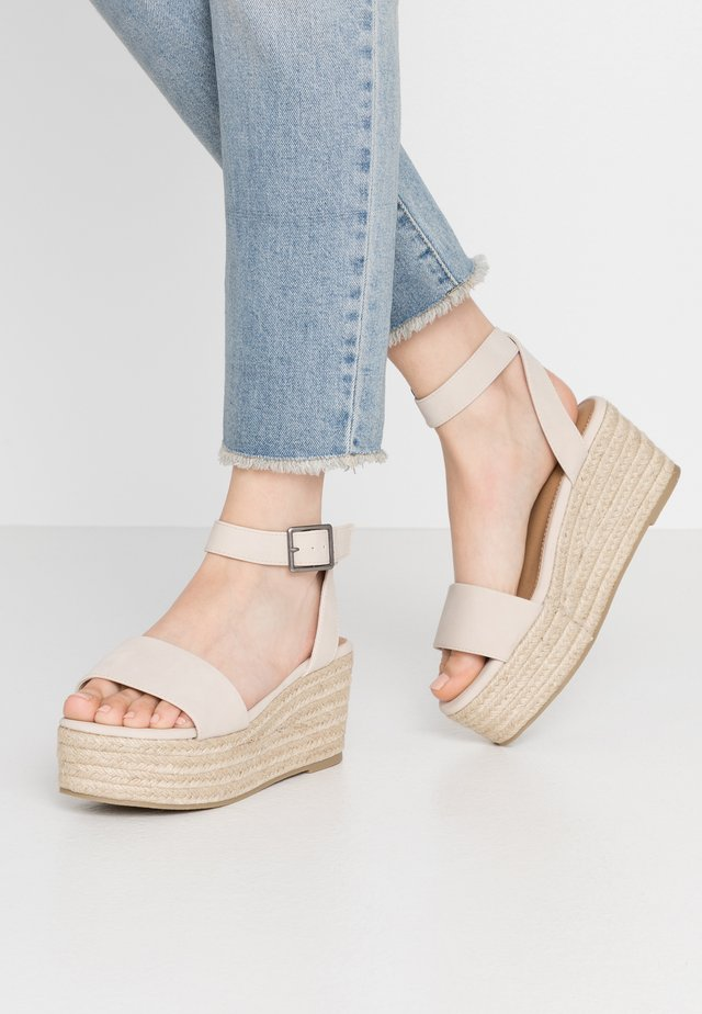 CRYSTAL WEDGE - Loafers - stone
