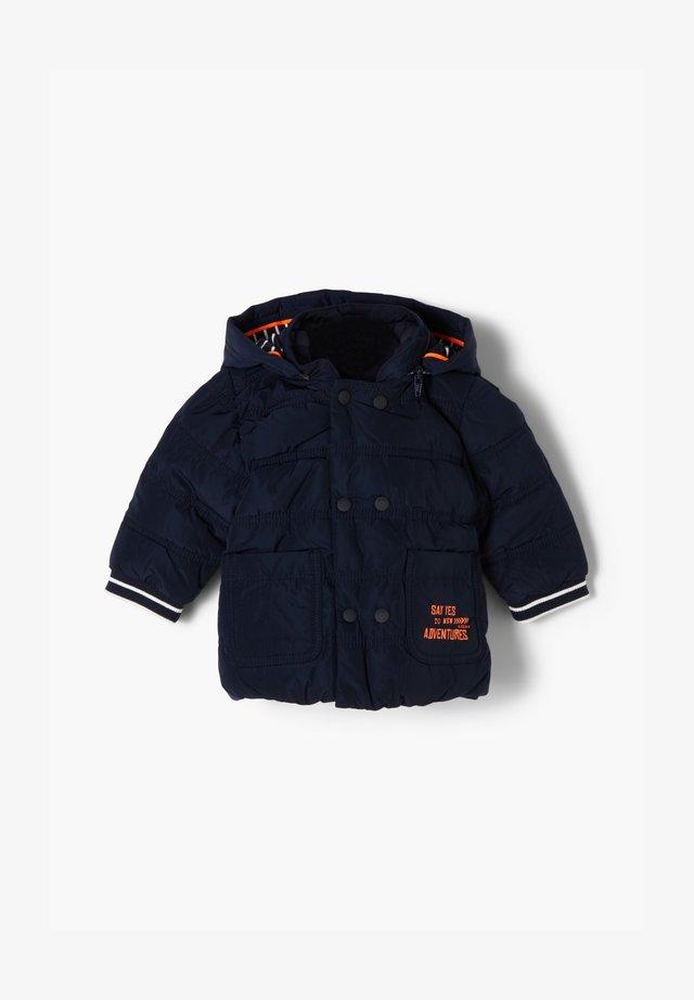 MIT KONTRAST-DETAILS - Winter jacket - dark blue