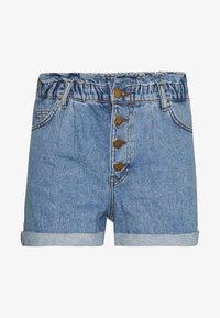 ONLCUBA LIFE PAPERBAG - Denim shorts - medium blue denim