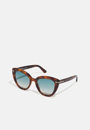 Sonnenbrille - blonde havana/green