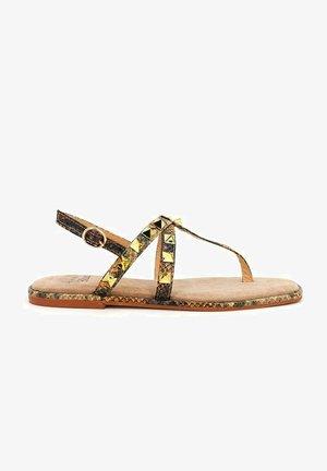 VIRUCA - T-bar sandals - sand