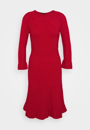 Gebreide jurk - burgundy