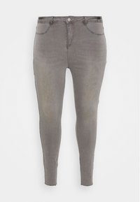 Missguided Plus - LAWLESS HIGHWAISTED SUPERSOFT - Jeans Skinny Fit - grey - 4