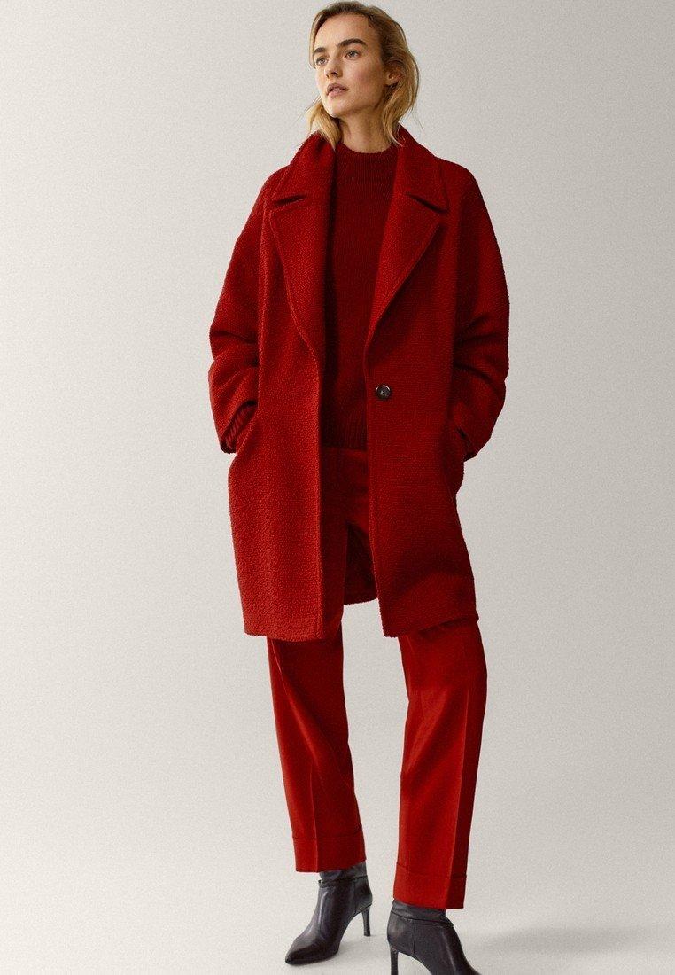 Massimo Dutti - Classic coat - red