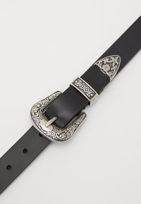 Zign - Unisex leather Belt - Pasek - black - 2