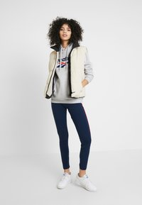 Reebok Classic - BIG LOGO HOODIE - Bluza z kapturem - light grey heather - 1
