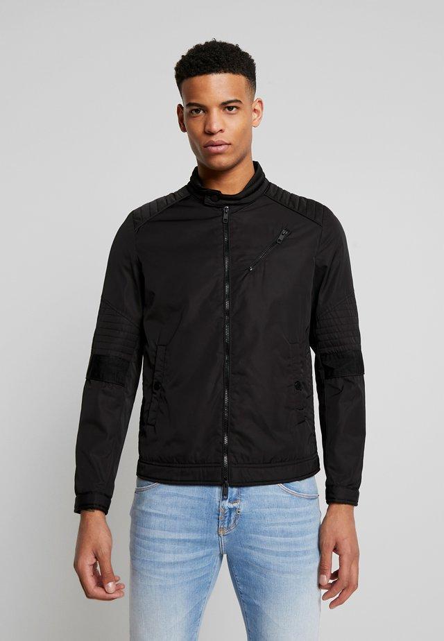 BIKER COAT - Summer jacket - black