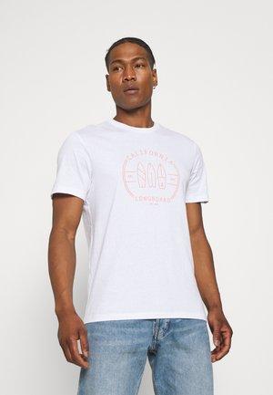 ONSPINE LIFE TEE - T-shirt med print - white