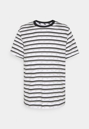 T-shirt med print - white/black/iron grey