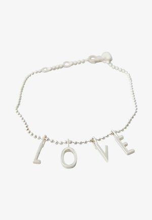 L-O-V-E BRACELET - Armband - silver
