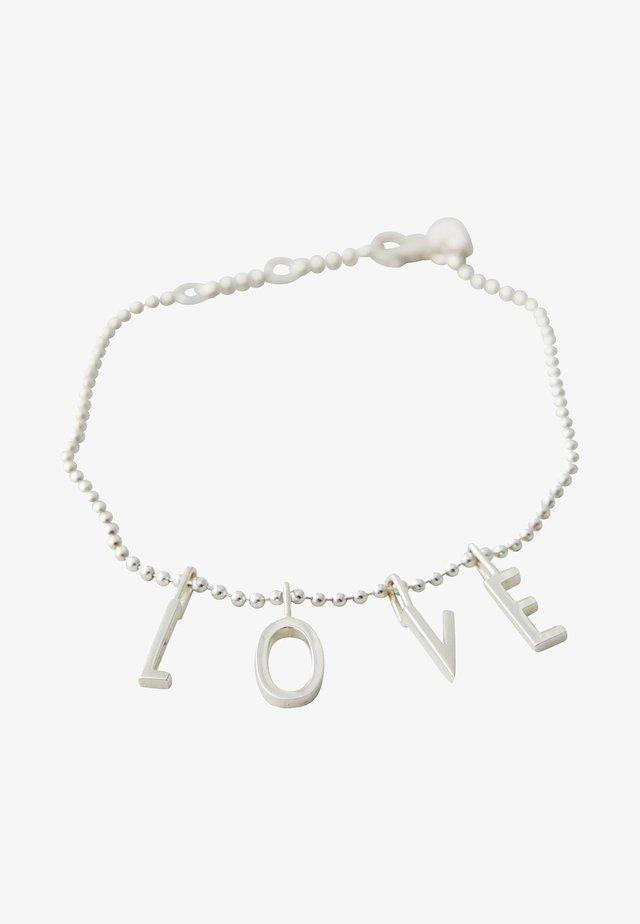 L-O-V-E BRACELET - Bracelet - silver