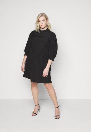 VMSILJE HIGH-NECK SHORT DRESS - Day dress - black