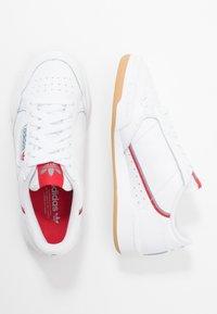 adidas Originals - CONTINENTAL 80 SKATEBOARD SHOES - Trainers - footwear white/grey three/scarlet - 1
