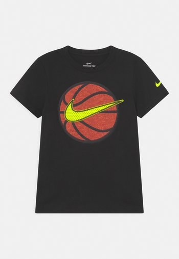 FAUX BASKETBALL - Print T-shirt - black
