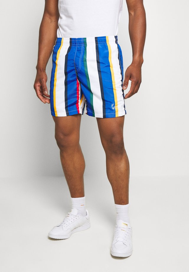 SIGNATURE STRIPE - Shorts - white/blue
