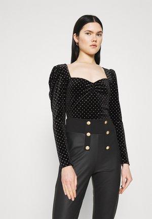SWEETHEART NECK - Top s dlhým rukávom - black