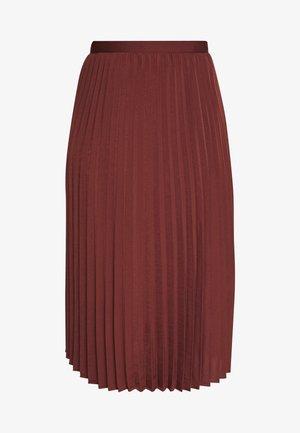 A-linjekjol - chestnut red