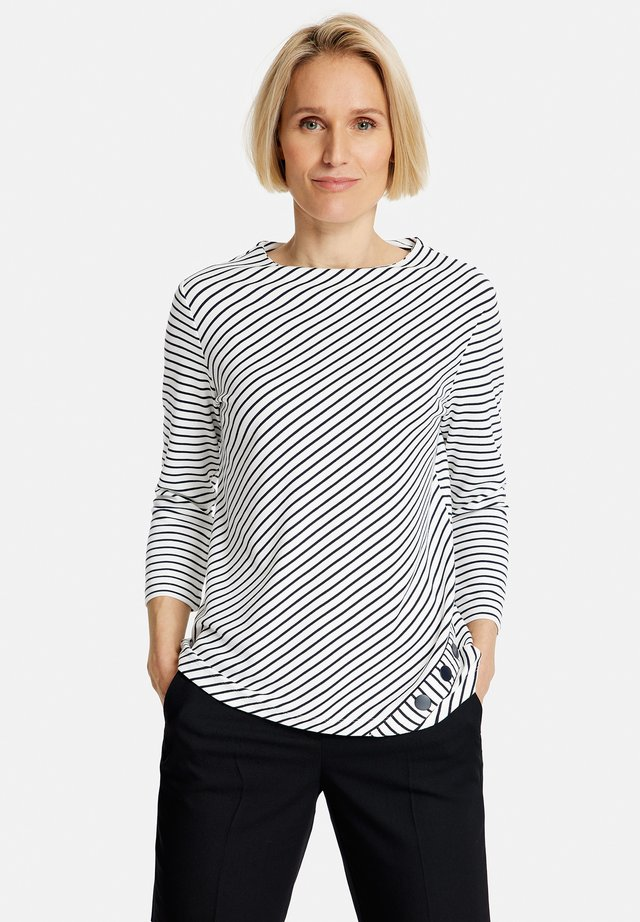 Long sleeved top - ecru/weiss/blau ringel