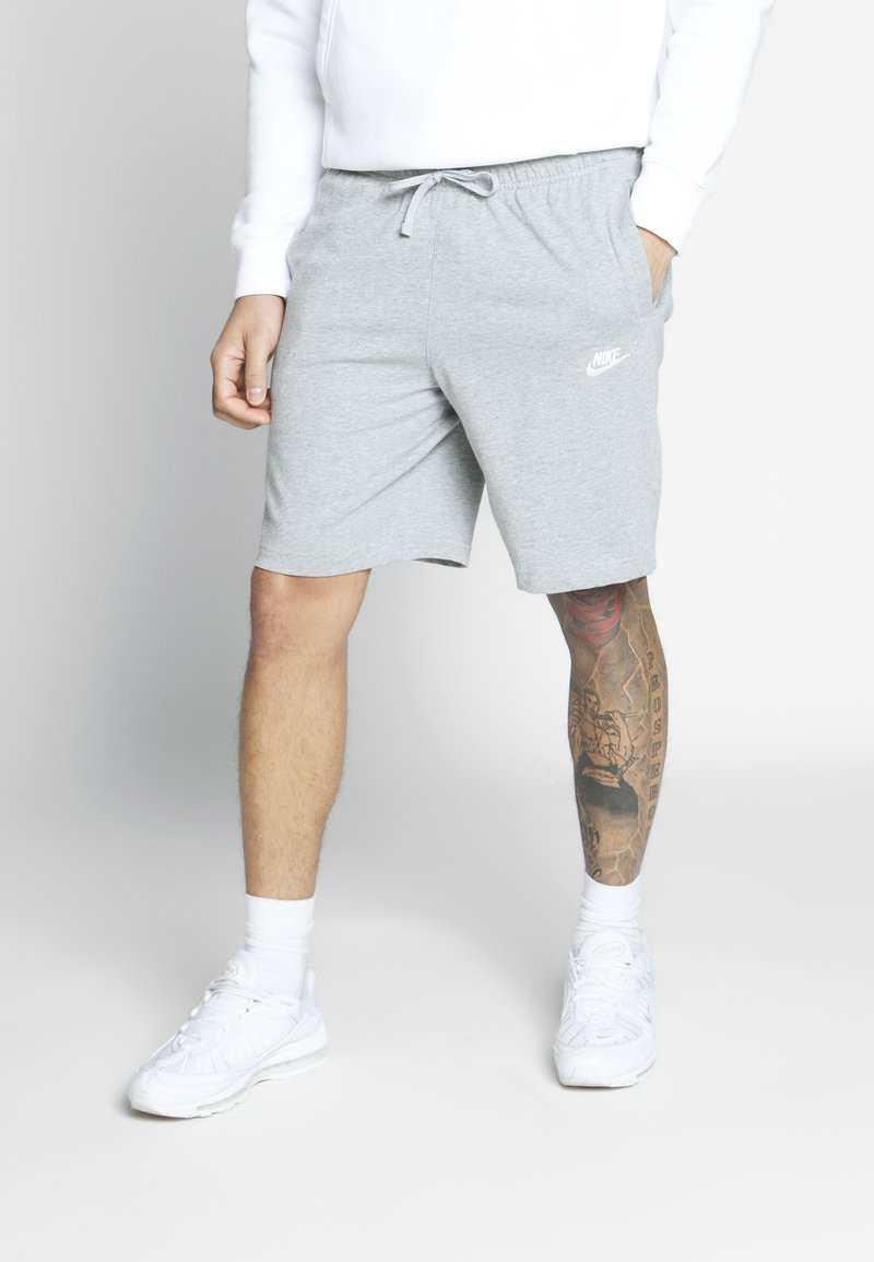 Nike Sportswear - CLUB - Shorts - dark grey heather/white
