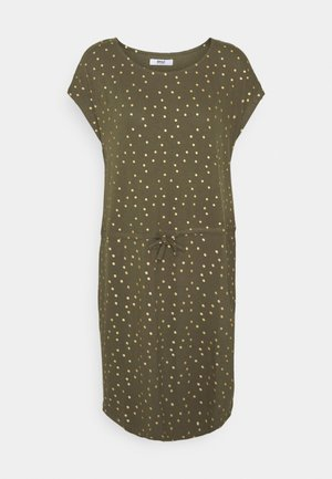 ONLMILLIE BELT DRESS - Jerseykjole - kalamata/gold