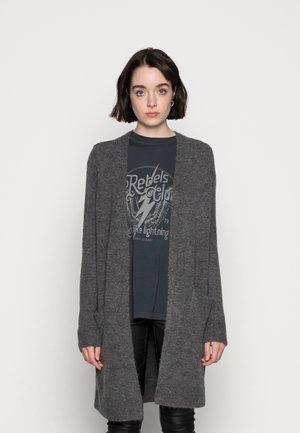 PCCHAPA LONG CARDIGAN - Gilet - dark grey melange