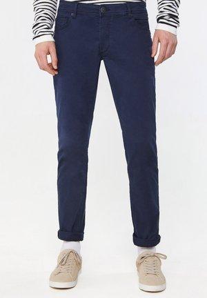 WE FASHION HEREN SLIM TAPERED BROEK - Pantaloni - dark blue