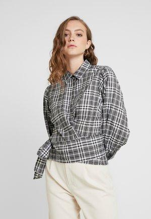 ENCRYSTAL - Button-down blouse - black/white