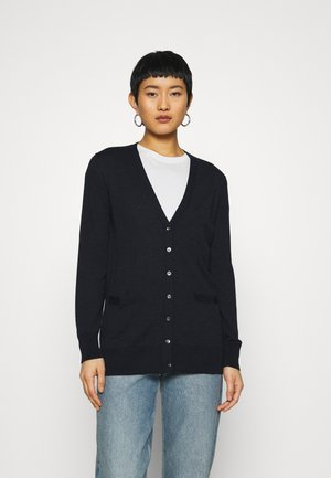LONG BUTTON UP CARDIGAN - Cardigan - midnight navy