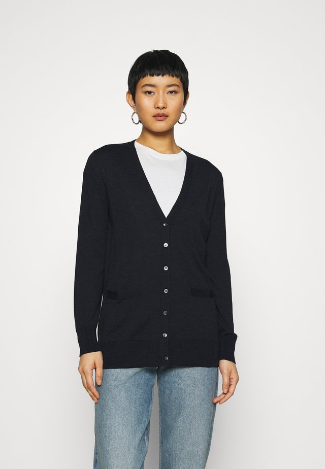 LONG BUTTON UP CARDIGAN - Gilet - midnight navy