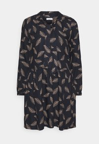 Re.draft - TIE NECK DRESS FEATHER - Day dress - night navy - 0