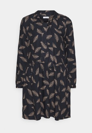 TIE NECK DRESS FEATHER - Day dress - night navy