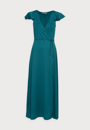 WRAP MIDI DRESS - Day dress - teal