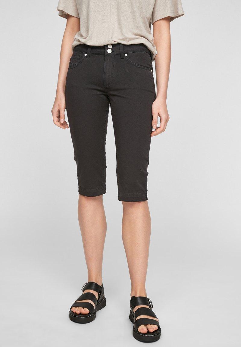 Q/S designed by - Denim shorts - black