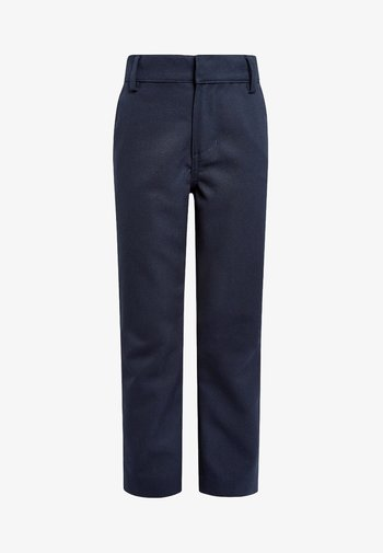 FLAT FRONT TROUSERS  - Trousers - blue