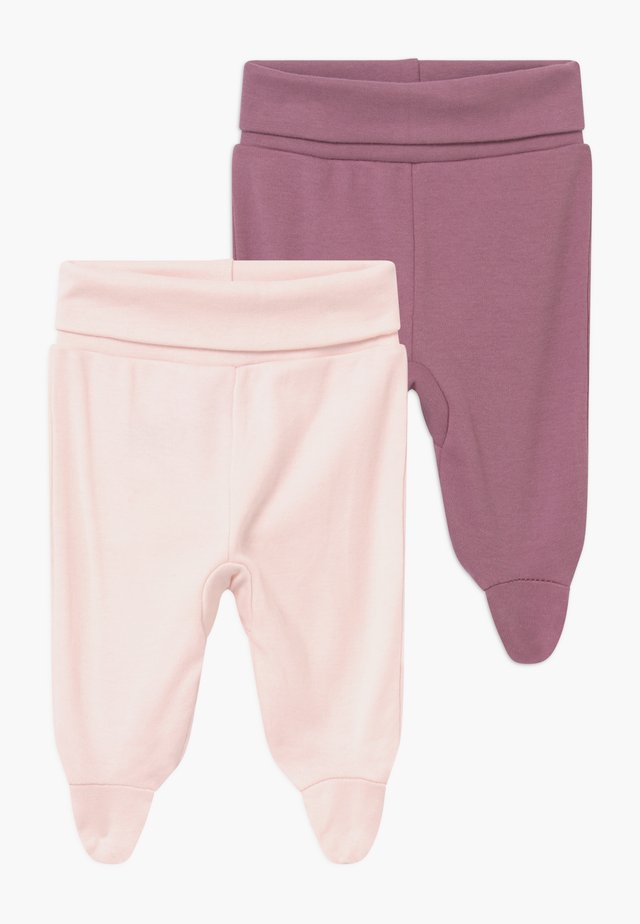 2 PACK - Stoffhose - light pink
