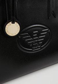Emporio Armani - ZIP EAGLE - Handbag - nero - 6