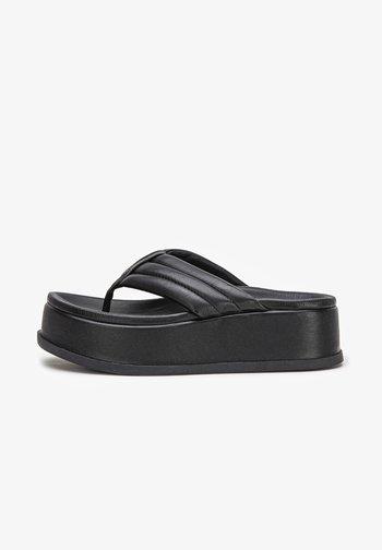 ZEHENSTEG - T-bar sandals - black blk