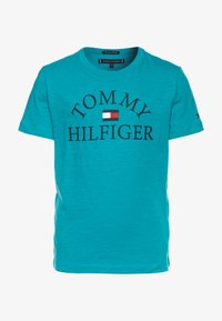 Tommy Hilfiger - ESSENTIAL LOGO - Camiseta estampada - blue - 0