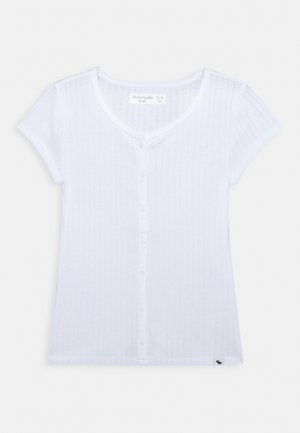 BUTTON - T-shirt basic - white