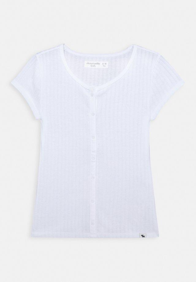 BUTTON - T-shirts basic - white