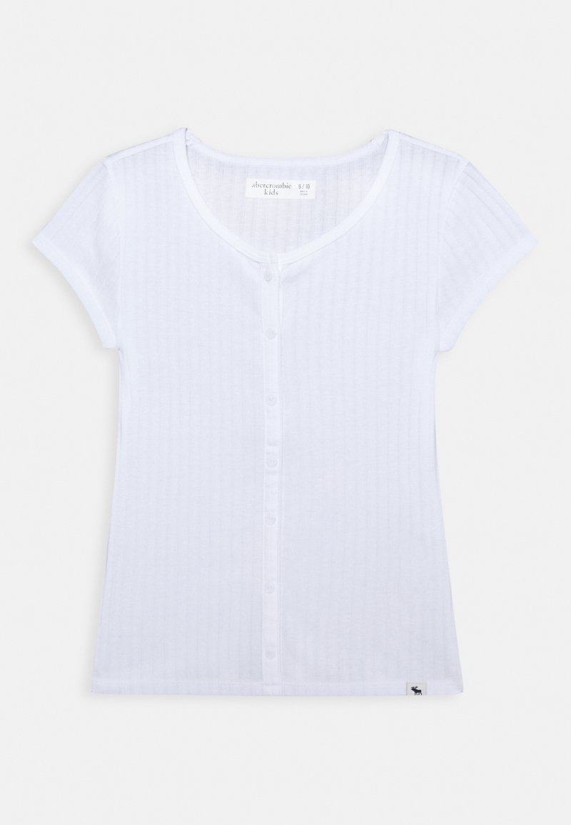 Abercrombie & Fitch - BUTTON - Basic T-shirt - white