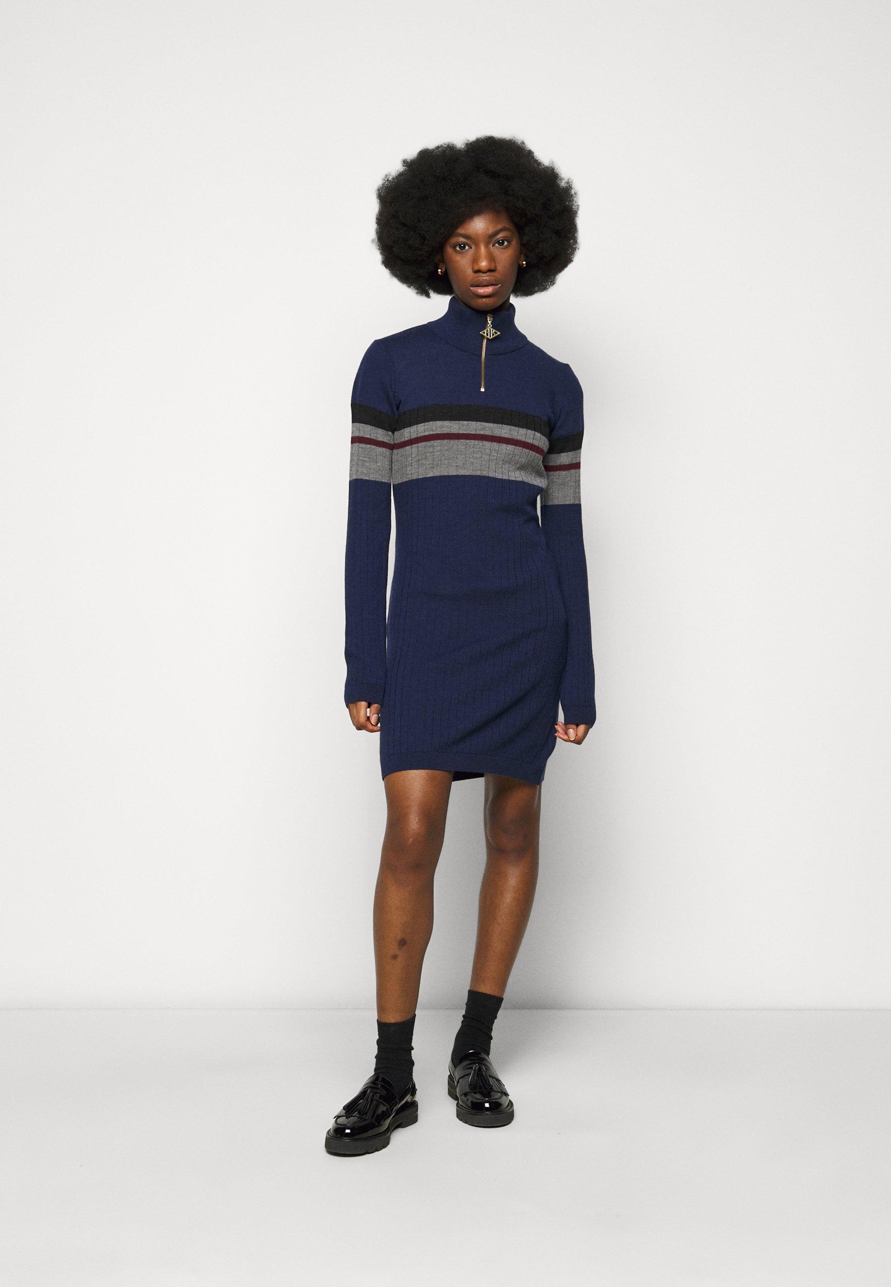 Women HALF ZIP DRESS - Shift dress