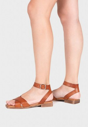 Ankle cuff sandals - leder