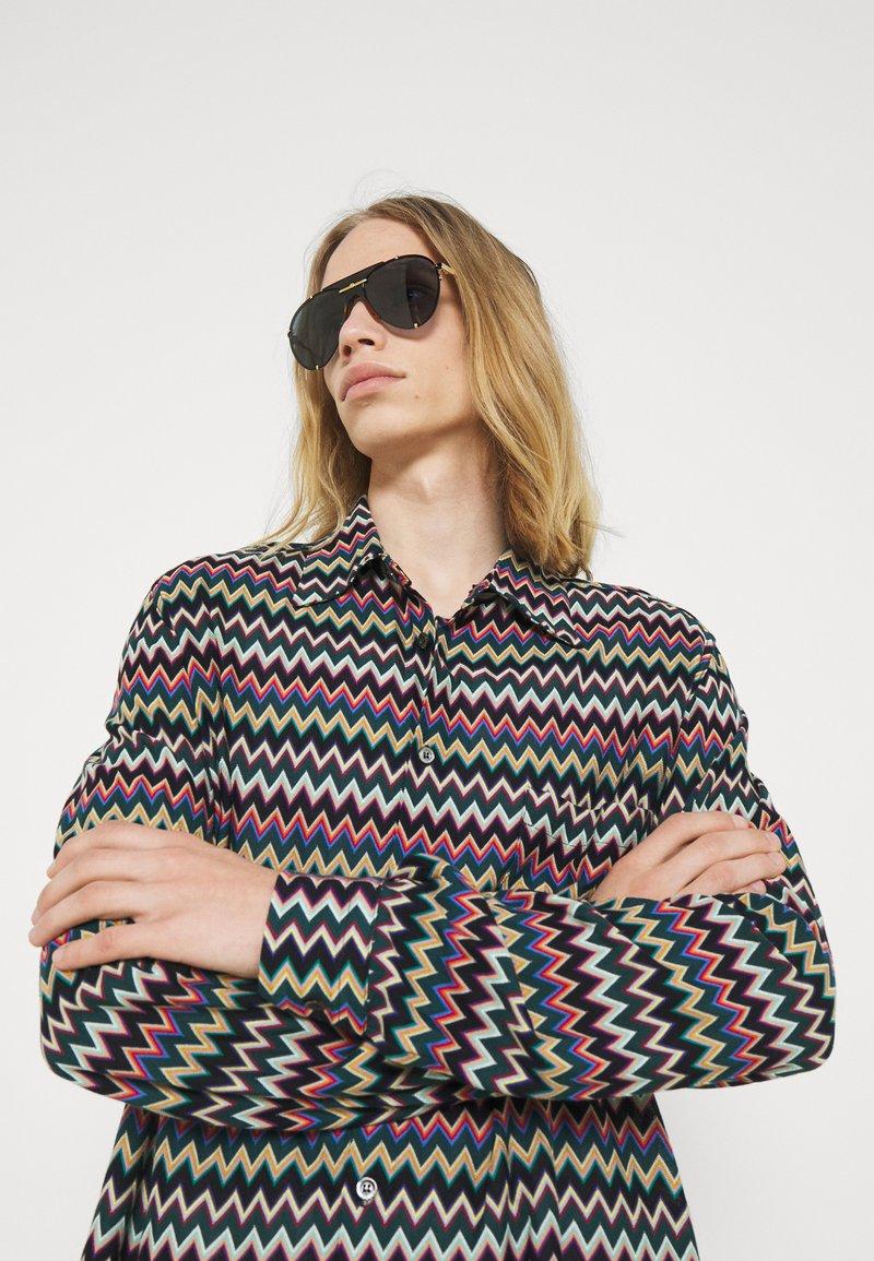 Gucci - Sunglasses - gold-coloured/blue