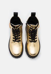 MOSCHINO - Lace-up ankle boots - gold - 3